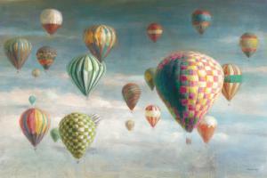 Hot Air Balloons with Pink by Danhui Nai