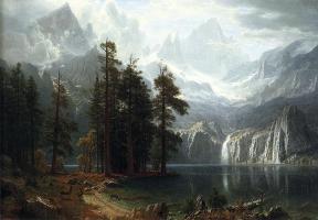 Sierra Vevada, 1871-73by Albert Bierstadt