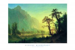 Sunrise, Yosemite Valley, Ca. 1870 by Albert Bierstadt