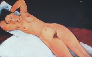 Nu (Nude),1917 by Amedeo Modigliani