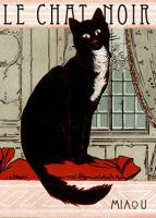 """Vintage Advertising, Le Chat Noir """"The Black Cat"""""""