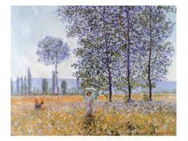 Sunlight Under the Poplars, 1887 by Claude Monet