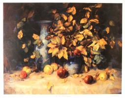 Blue Vase with Pomegranates by Angelo Quabba