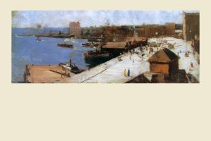 Circular Quay, 1883 by Arthur Streeton