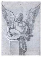 Winged Man Playing Lute by Albrecht Dürer