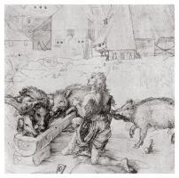 The Prodigal Son Among the Swine by Albrecht Dürer
